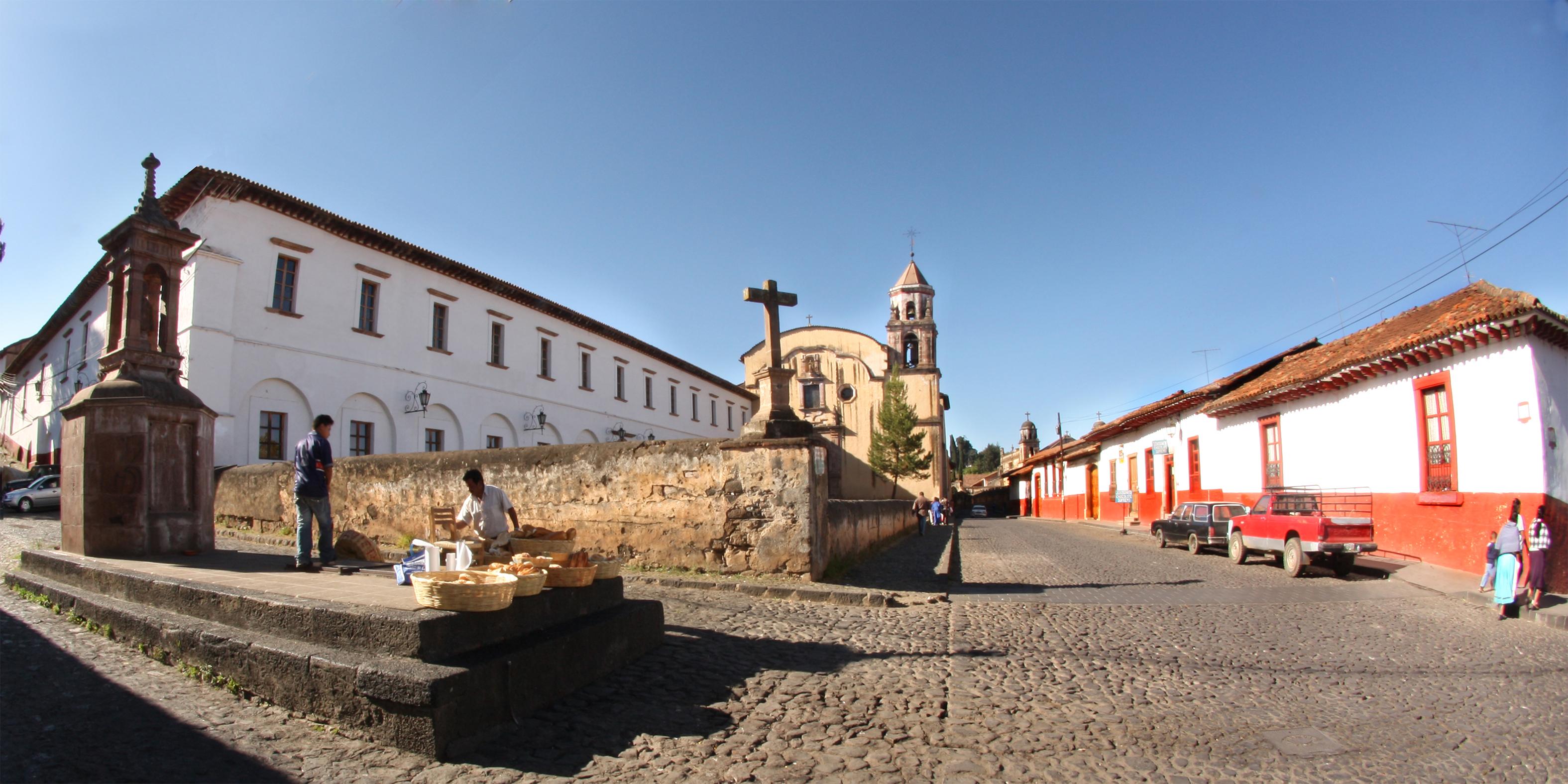 EL hermoso poblado de Pátzcuaro.