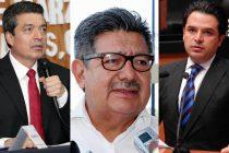 De izquierda a derecha, Rutilio Escandón, Placido Morales y Zoé Robledo, posibles candidatos a gubernatura de Chiapas. Foto/ArchivoDigital.