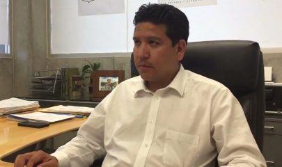 Jonathan Díaz Gallegos, director de Smapa. Foto/3 Minutos Informa Chiapas.
