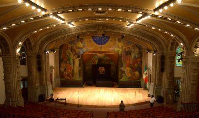 El Anfiteatro Simón Bolivar del Antiguo Colegio de San Ildefonso será sede de la nueva Academia de Música Antigua. Foto La Jornada / Archivo