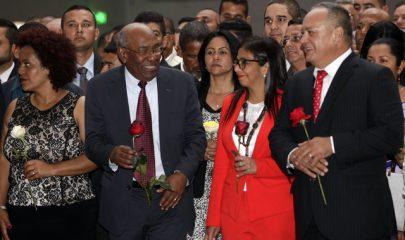La presidenta de la Asamblea Constituyente de Venezuela, Delcy Rodríguez, durante la ceremonia inaugural. Foto/Xinhua