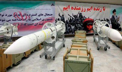 El ministerio de defensa de Irán exhibe misiles Sayyad-3 producidos en su país Foto/AFP