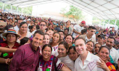 Peña Nieto, vino a Chiapas a encabezar la celebración por el Día Internacional de los Pueblos Indígenas.