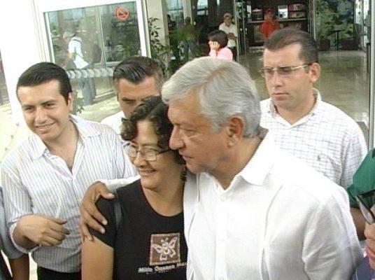 Visita de Andrés Manuel López Obrador a Tuxtla Gutiérrez en 2015. Foto:/Candelaria Rodríguez Sosa.