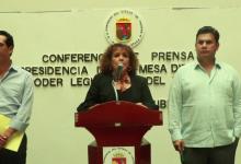 Patricia Conde Ruiz, presidenta de la Comisión de Vigilancia del Congreso del Estado.