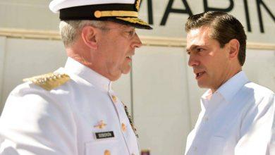 Almirante Soberón Cruz y Presidente Enrique Peña Nieto. Foto/ @EnriquePN.