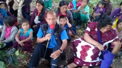 El padre de la parroquia del municipio de Chalchihuitán, Sebastián López. Foto/Milena Mollinedo/Quadratín Chiapas .