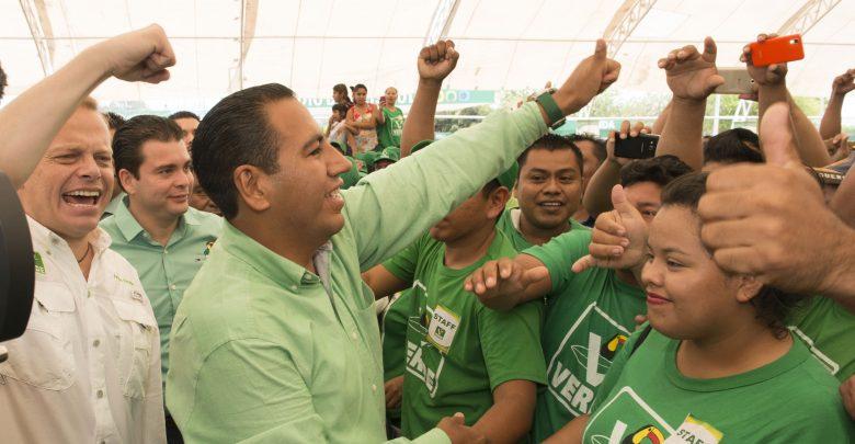Eduardo Ramírez Aguilar, presidente del partido Verde en Chiapas.
